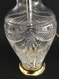 Stuart Crystal Vase Designs Details About Stuart Crystal U0027drapes U0027 Design Lamp No 894 245