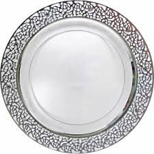 clear plastic plates pretty clear plastic 9 dinner plate with silver lace posh