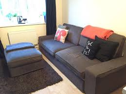 Ikea Three Seater Sofa Bed Ikea Kivik Dark Brown 3 Seater Sofa Bed And Footstool In Surrey
