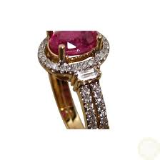 ruby diamond ring ruby ring with diamonds in gold flashopal