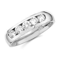 14k white gold wedding band diamond 5 channel set 14k white gold wedding band at
