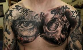amazing idea of skull on chest for tattooimages biz