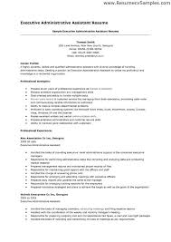 Executive Administrative Assistant Sample Resume by Sample Resumes For Administrative Assistant Positions