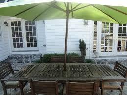 secret agent man outdoor patio table