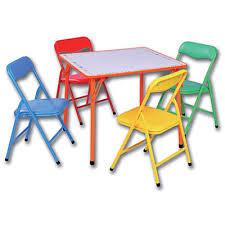 home design captivating kids folding table and 4 chairs new