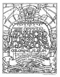 Retro Gaming The 70s 80s The Official Advanced Dungeons 80s Coloring Pages