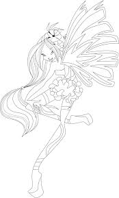 flora coloring pages flora sirenix full coloring page by icantunloveyou on deviantart