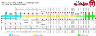 Greeley Colorado Map by Parades