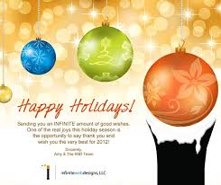 Christmas Cards For Business Clients Holiday Idea For Your Business Infinite Web Designs