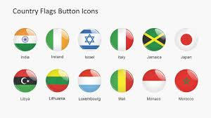 Singapore Flag Button Country Flags Button Icons Powerpoint Shapes Slidemodel