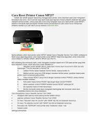 reset ip2770 dengan service tool v3400 cara reset printer canon mp237