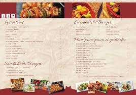 serious elegant menu design for nab cool by tedatkinson design