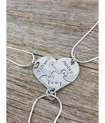heart puzzle necklace images Friends necklace set 3 piece heart puzzle necklace set sorority jpg