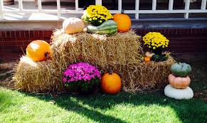 Fall Hay Decorations - images about garden inspiration autumn on pinterest in the and