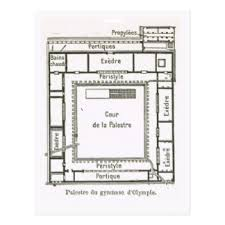 ancient greece floor plan greece olympia postcards zazzle
