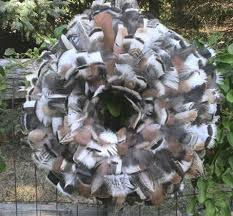 turkey feather wreath kgacresfarm the featherwerks