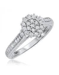2 carat ring 1 carat diamond trio wedding ring set 14k white gold