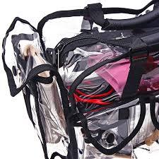 traveling makeup artist shany cosmetics clear makeup bag pro mua bag