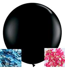 gender reveal balloons sepco gender reveal confetti balloon black with pink
