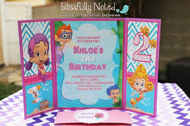bubble guppies birthday invitations blissfullynoted on artfire