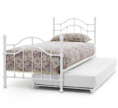 Single Beds Metal Frame Home Decorating Pictures White Single Bed Frames