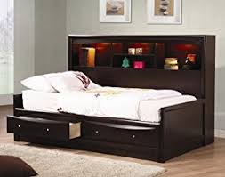 Wood Day Bed Amazon Com Inland Empire Furniture Full Size Cooper Cappuccino