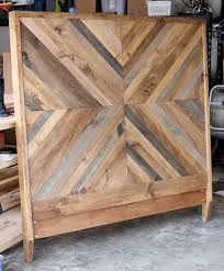 homemade wood headboards how to build a rustic wood headboard
