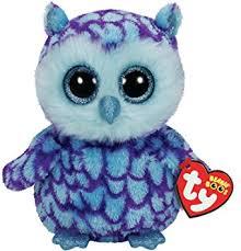 amazon ty beanie boo plush oscar owl 15cm toys u0026 games