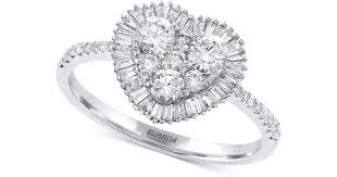 diamond heart ring lyst effy collection effy diamond heart ring 3 4 ct t w in