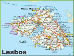 Kos Greece Map by Lesbos Maps Greece Maps Of Lesbos Island Lesvos