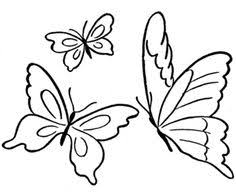 flying butterfly outline clipart collection