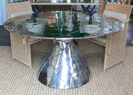 round abstract stainless steel dining table mecox gardens