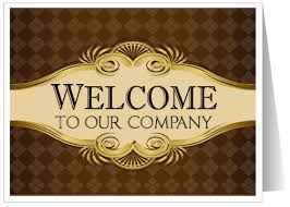 welcome to our company greeting card 1270 harrison greetings