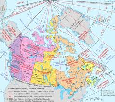 canadian map with time zones timezone map of canada trail canada