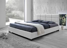 Bed Full White Platform Full Bed Amazon Com