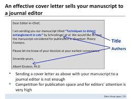 manuscript editor cover letter
