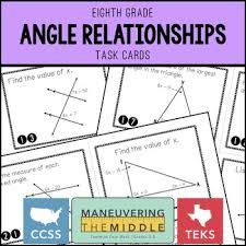 angle relationships by maneuvering the middle teachers pay teachers