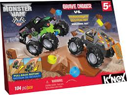 monster trucks grave digger crashes amazon com k u0027nex monster jam grave digger versus maximum
