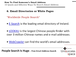 Find Peoples Address By Their Name How To Find Someone S Email Address 10 Simple And Productive Soluti