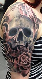 skull u0026 roses half sleeve tattoos that i love pinterest