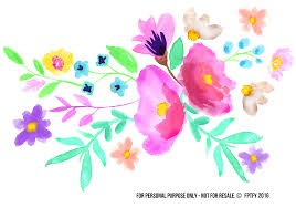 floral spray watercolor floral spray clip images free pretty