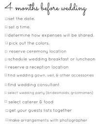 wedding planning schedule a 4 month engagement wedding planning checklist crazyforus