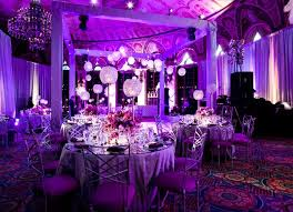 purple decorations sophisticated purple wedding table decorations the home design