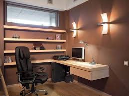 Elegant Home Office Design For Small Space With Black Lacquered - Small home office designs