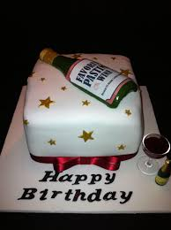 Liquor Bottle Cake Decorations Red Wine Bottle On Green Sheet Cake With Grapes Sheet Cakes