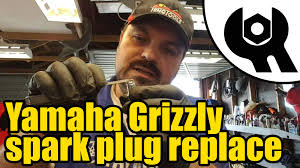 1805 yamaha grizzly 450 spark plug replacement youtube