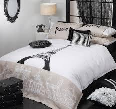 Eiffel Tower Bed Set Amazon Paris Decor Black And White Eiffel Tower Bedding Comforter