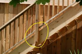 deck railing stairs deck stair railing placement and installing