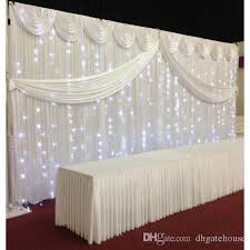 wedding backdrop drapes 2018 white silk wedding backdrop curtains simple design swag