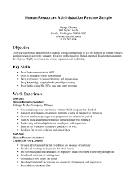 Receptionist Resume Examples by Download Human Resources Administration Sample Resume
